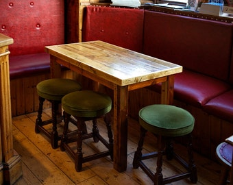 Six seater reclaimed solid pine table, for your pub or your kitchen!