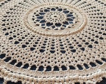 Handmade Round Crochet Doily