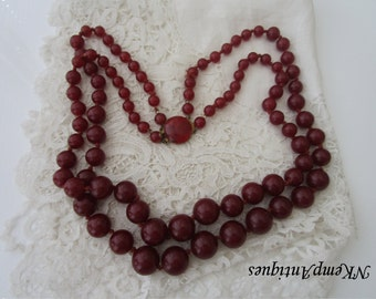 Vintage bead necklace Western Germany