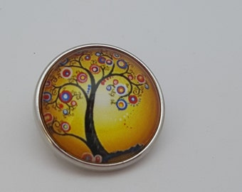Glass Popper Snap Whisical Tree Snap Jewelry