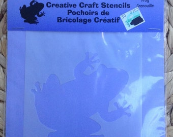 Creative Craft Stencils Frog Grenouille