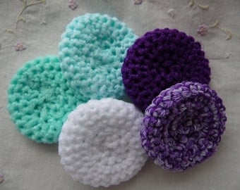 Set of 5 Nylon Crochet Kitchen Scrubbies, Cleaning scrubbies, Handmade Nylon Scrubbies, Kitchen Cleaning, Household Gift, Nylon Scrubbies