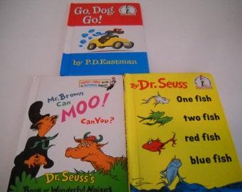 Set of 3 Cat in the Hat Beginner Books