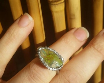 Sale Rough opal ring | raw opal ring | size 4.5 to 5