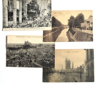 Post card collection post WWI France