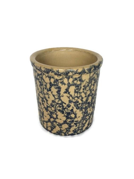 Robinson Ransbottom crock vintage pottery canister spongeware high jar
