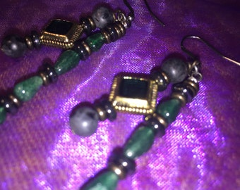 Earrings*Dangle Earrings*Brass Earrings*Date Night Earrings*Womens Earrings