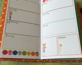 Week on 2 Pages Traveler's Notebook insert Standard size--Rainbow Grid Foxy