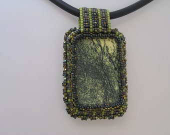 Beaded Pendant:  In the wood