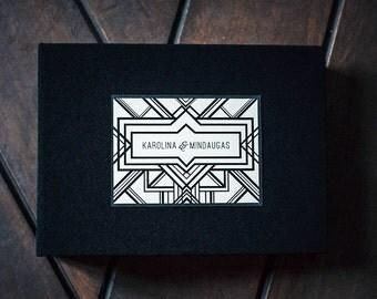 Gatsby Guest Book Wedding Album, Instax Photo album, Photobooth Album - by Liumy