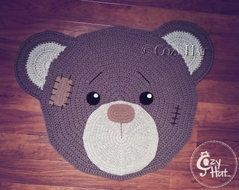 Bear Rug Hand Crocheted Made to Order