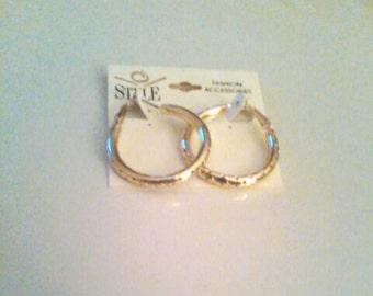 Gold Tone Hoop Earrings