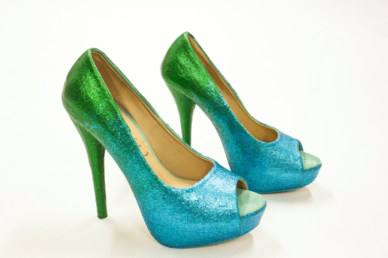 Royal Blue Glitter Heels