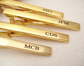 Personalized Groomsmen's gift...Gold or Silver Stainless Steel custom engraved Tie Clip, Best mans gift, gift for him, Man's accessory