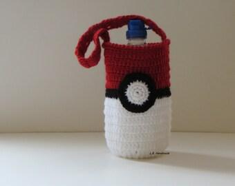 Pokeball Water Bottle Bag, Water Bottle Holder, Water bottle carrier, Cozy, Drink bottle holder, School Water Bottle Bag, Pokemon