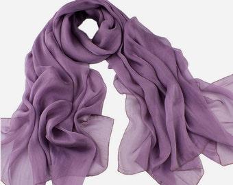 Purple Chiffon Scarf - Purple Scarf-30D14