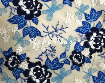 Floral Embroidered Organza Lace - Premium Embroider Lace-L181