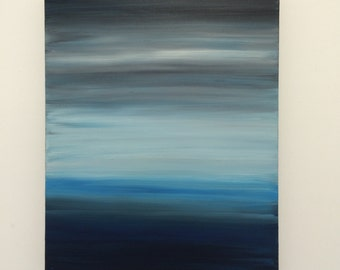 Abstract painting, original painting, blue art
