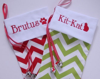 Pet Stocking personalized with White Fabric Cuff  Choose Your Fabric Pet Christmas Stocking Pet Holiday Dog Cat Stocking