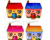 50% OFF SALE Cute House C...