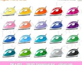 50% OFF SALE Iron Clipart...