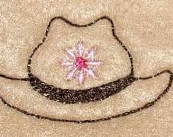 Cowboy cowgirl hat set of 4 UNCUT wholesale felties, felt embellishment, hair bow centers, hair accessories, scrapbook supplies, applique