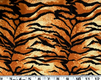 Animal  Print Cotton Fabric,Tiger  Skin Print  By the Yard  #256-3