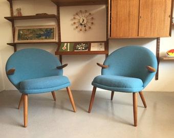 Danish modern midcentury chairs