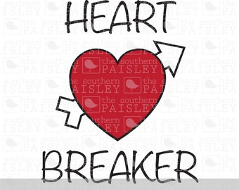 Heart Breaker - Valentine - .svg/.eps/.dxf/.ai for Silhouette Studio, Cricut, or other cutting software