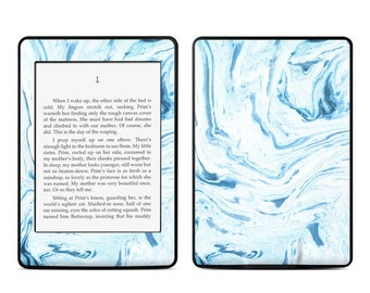 Amazon Kindle Skin - Azul Marble - Sticker Decal - Fits Paperwhite, Fire, Voyage, Touch, Oasis
