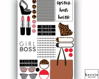 Girl Boss Mini Kit Planner Stickers ECLP Happy Planner KikkiK Filofax