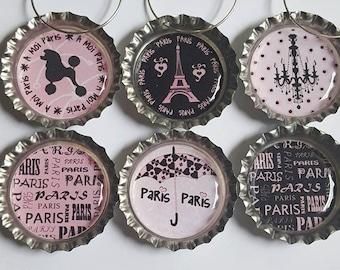Paris Wine Charms Paris Gift