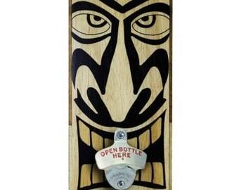 Tiki - Wall Mounted Wood Plaque Bottle Opener