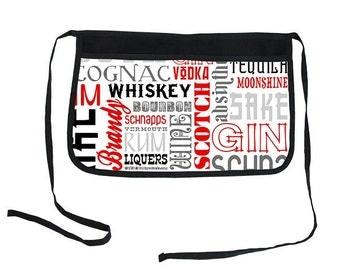 Liquor Names Two-Pocket Kolorcoat™ Server Apron