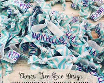 Create Your Own Cheer Team Colors Personalized Hair Ties  No Tug Custom Hair Ties Printed Monogram Party Favors Custom Print Hair Bands
