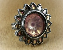 Ring - old ethnic ring - old tribal jewelry - Rajasthan ring - old Pakistan ring - old ethnic jewelry - tribal antiques - old tribal ring