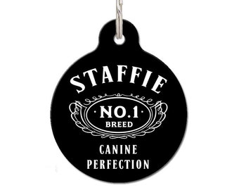 Staffie Breed Dog ID Tag | FREE Personalization