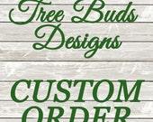 Custom Order - 9 ornaments, 36 coasters