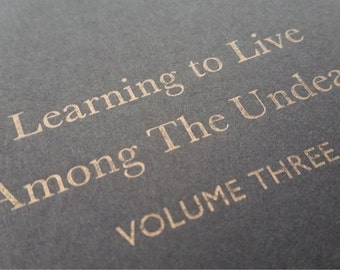 The Undead - Large Funny Letterpress Journal, Jotter, Cahier, Moleskine - A5 Ruled Notebook