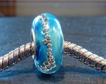 Lampwork Glass Bead SRA fits all kinds of european charm bracelets BHB fully cored, isglasperlenkuns