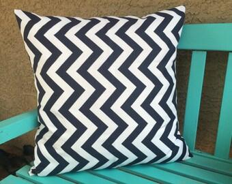 Chevron Pillow Cover - Navy Chevron Pillow Cover - Zig Zag Pillow Cover - Navy Pillow Cover - Navy Accent Pillows