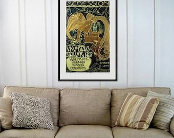 Reprint of an Austrian Art Deco Poster