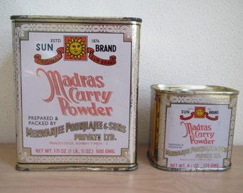 Madras Curry Powder Tins