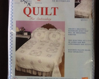 Butterflies quilt cross stitch design