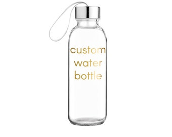 Custom Glass Water Bottle > Personalized Water Bottle > Personalized Sports Bottle > Personalized Gift