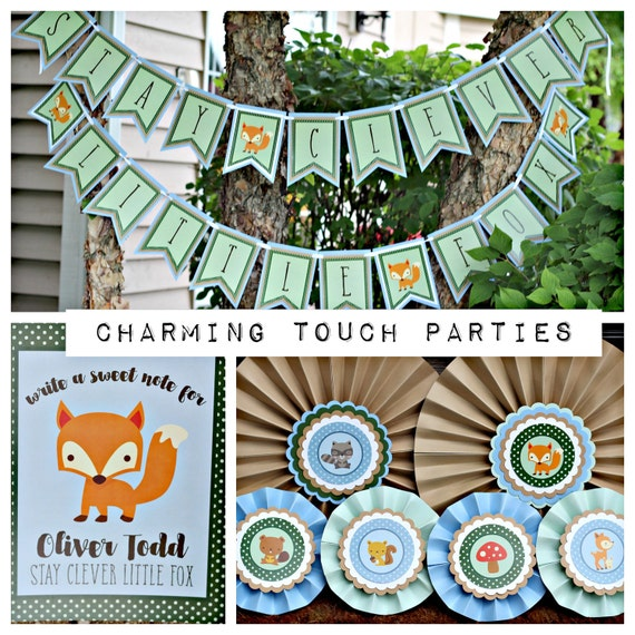 woodland baby shower party decorations clever little fox boutique 3