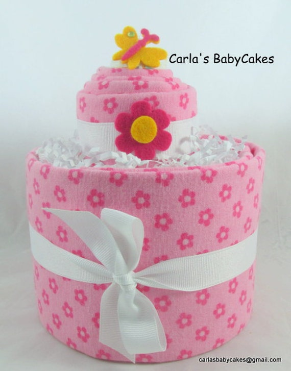 m dchen windel torte windel torte rosa baby windel torte. Black Bedroom Furniture Sets. Home Design Ideas