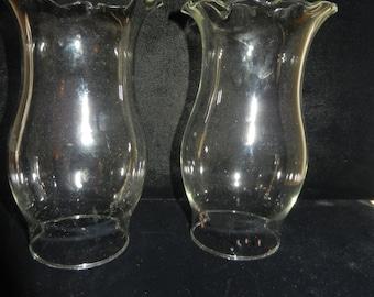 Three Clear Glass Chimneys
