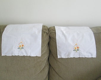 Vintage Embroidered Arm Chair Covers/Sofa Head Rests