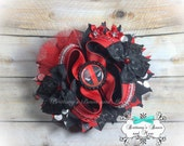 OTT Hair Bow ~ Deadpool - Over the Top Hairbow ~ Deadpool Inspired Hair Bow ~  Stacked Boutique Bow